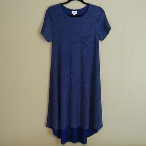 LulaRoe Blue Glitter Hi Lo dress Sz S